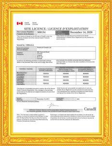 Health Canada Site License